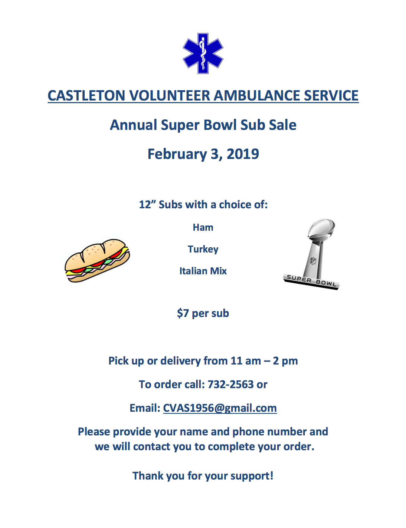 Castleton Volunteer Ambulance Service Flyer