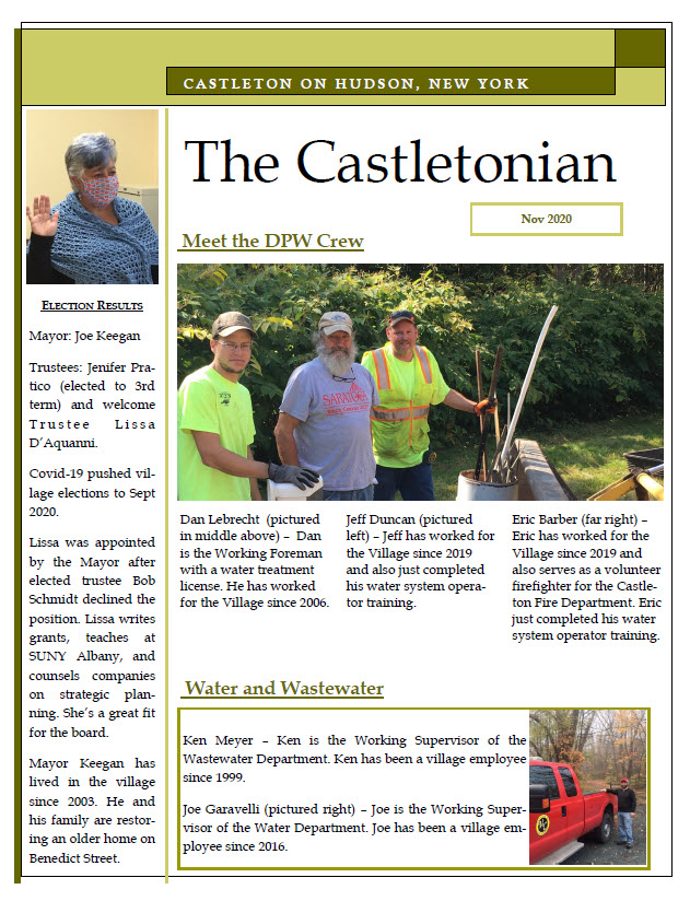 Castletonian cover Nov 2020