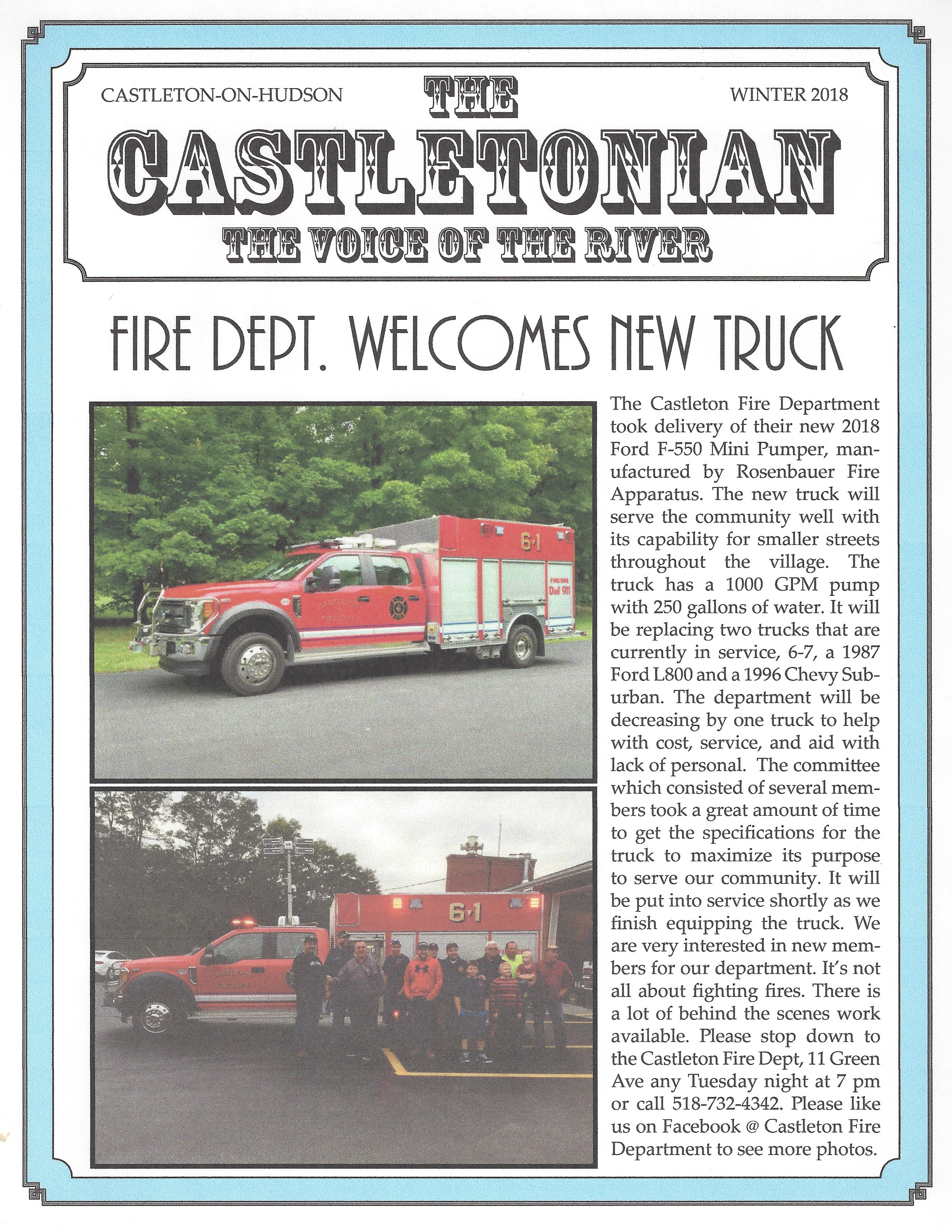The Castletonian, Winter 2018