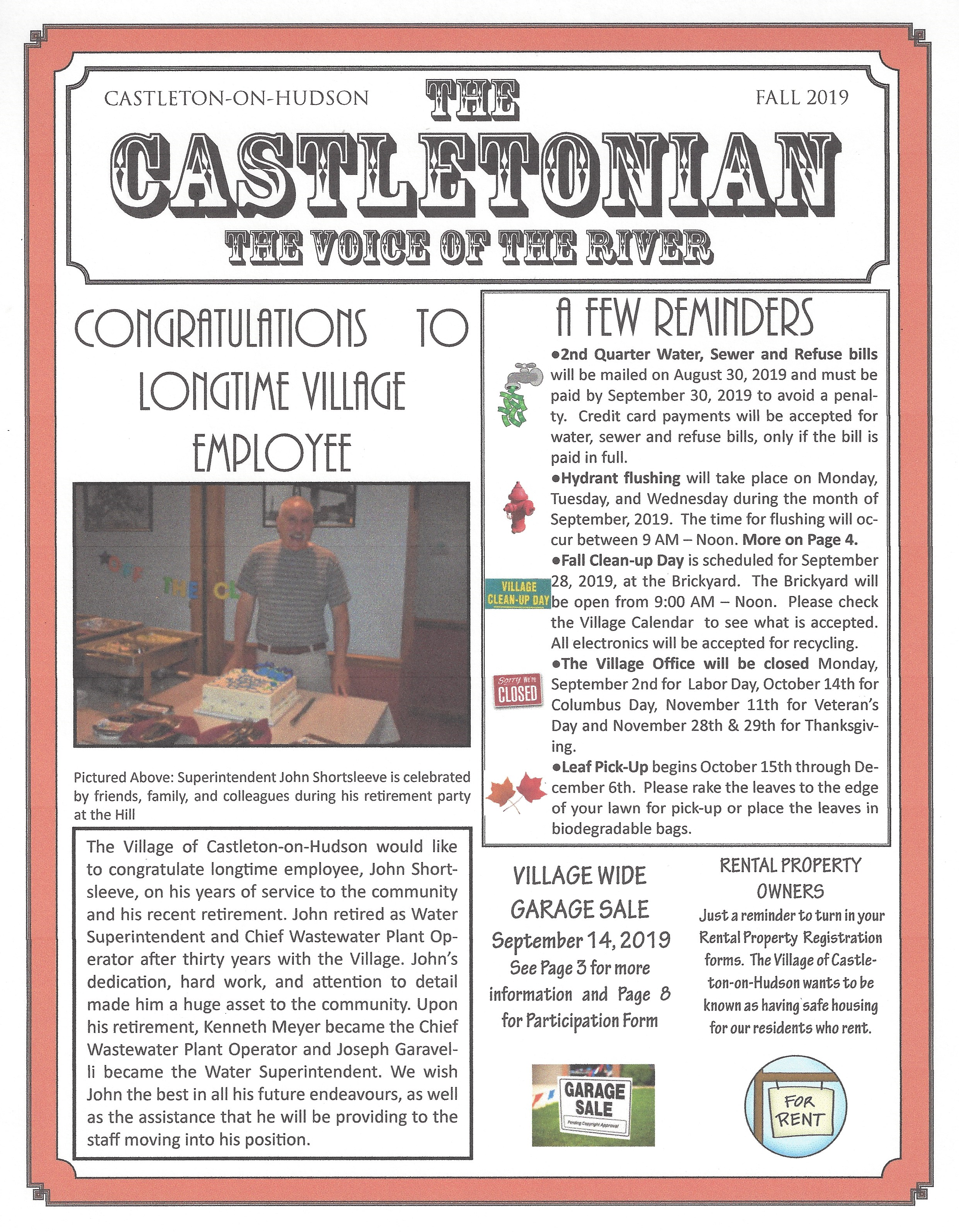 The Castletonian Fall 2019