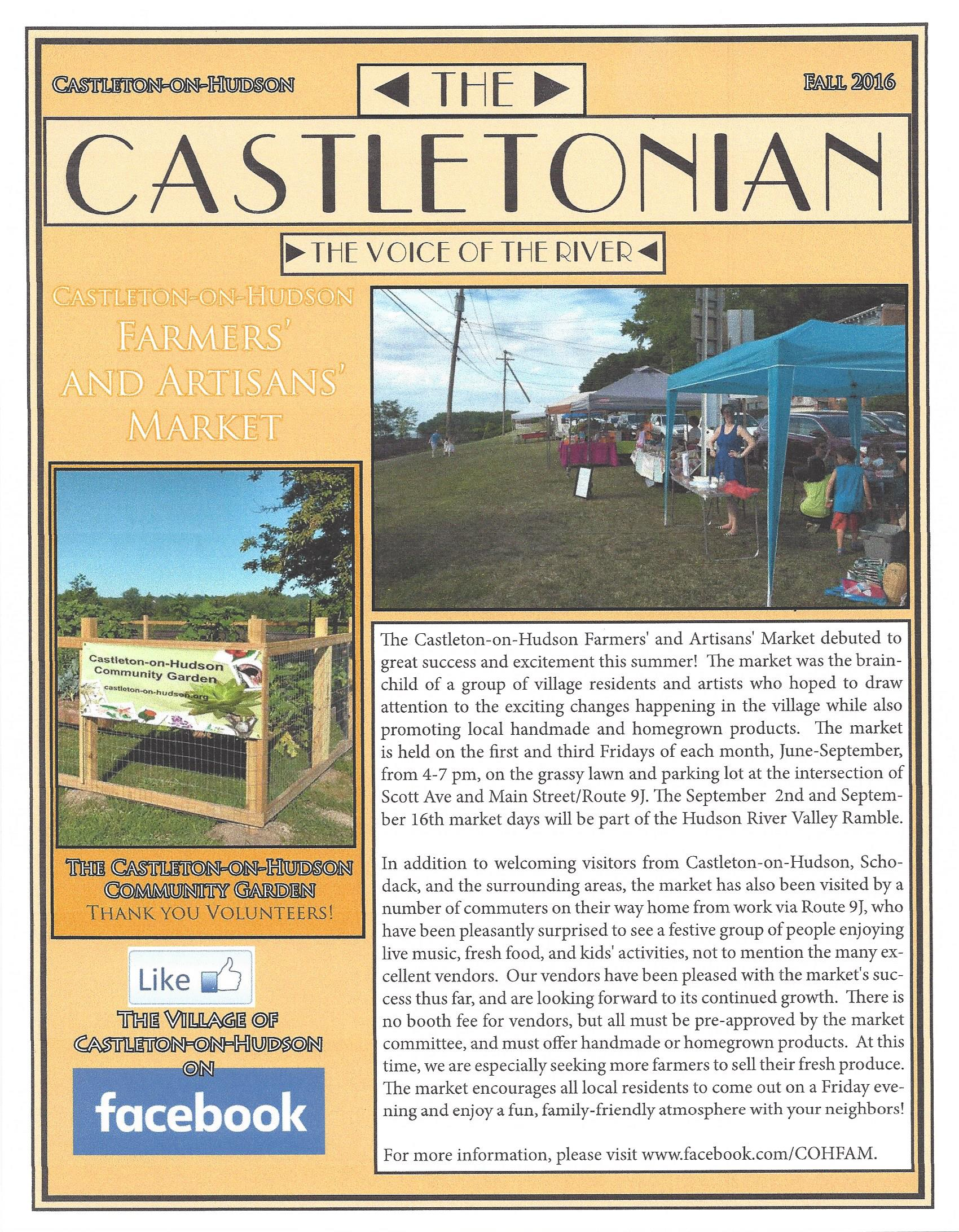 The Castletonian Fall 2016